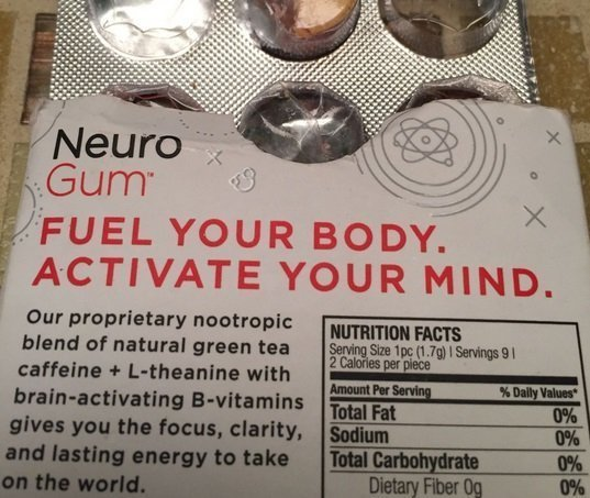 A used packet of neurogum