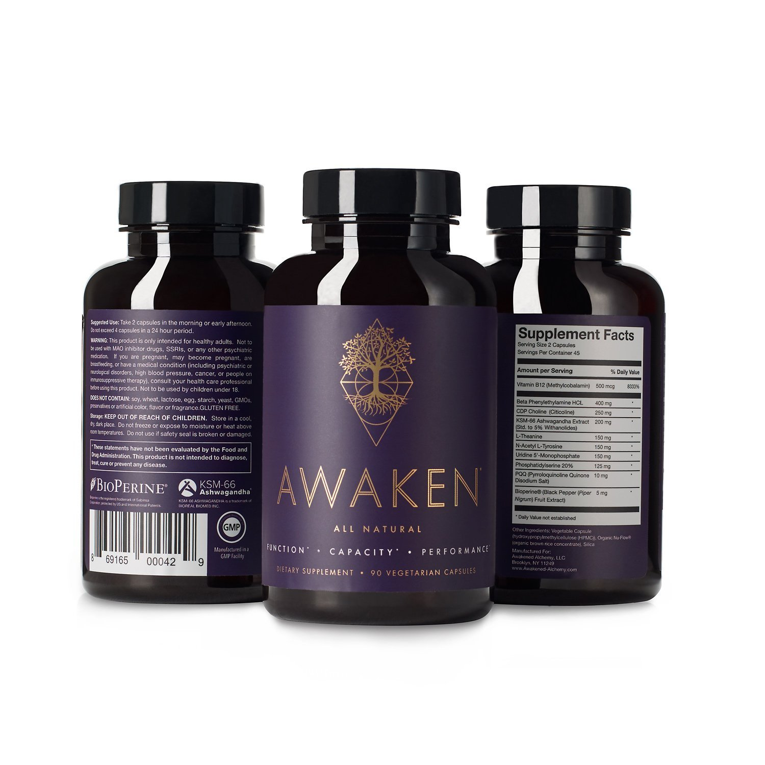 Awaken Supplement Facts