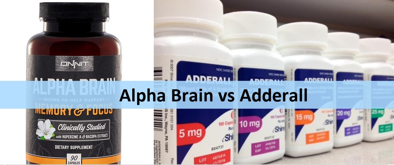 Comparison of Alpha Brain and Adderall