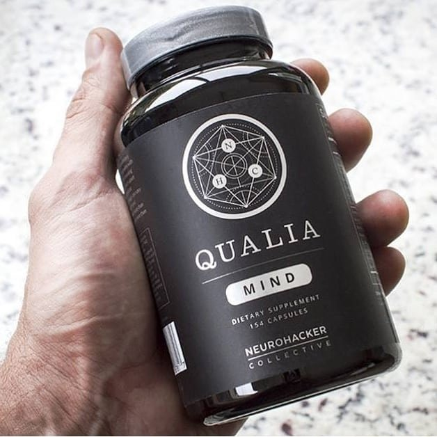 Ameteur photo of Qualia Mind bottle