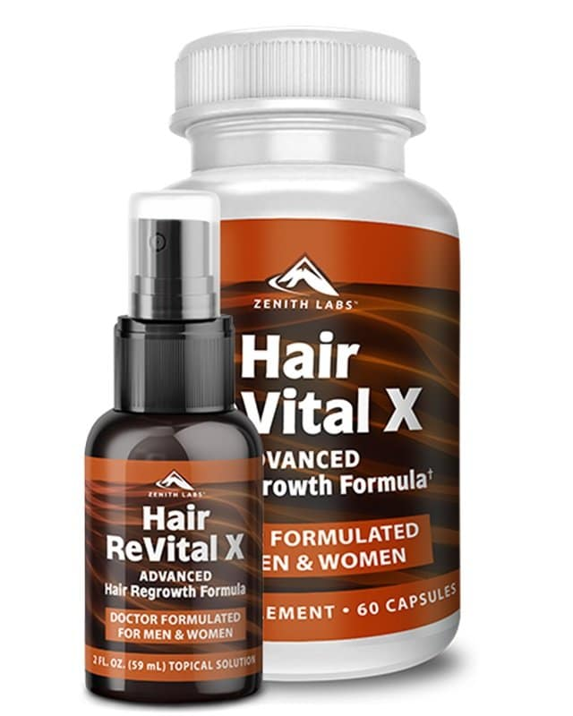 hair revital x supplement bottle