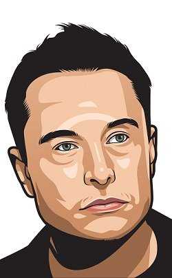 Elon Musk Caricature