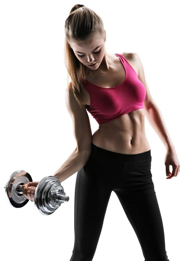 Weight lifting for thigh fat loss